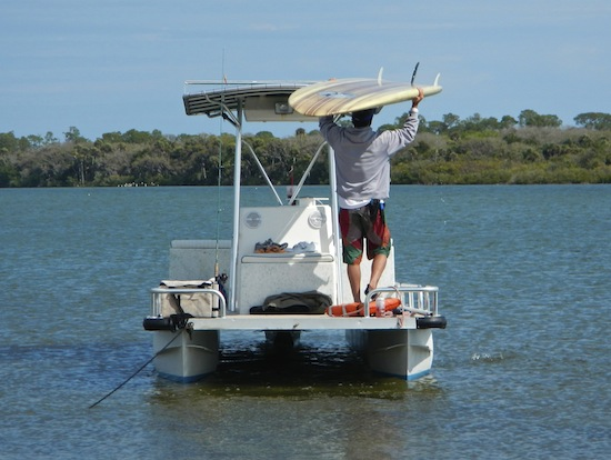 Paddleboard Fishing in Mosquito Lagoon