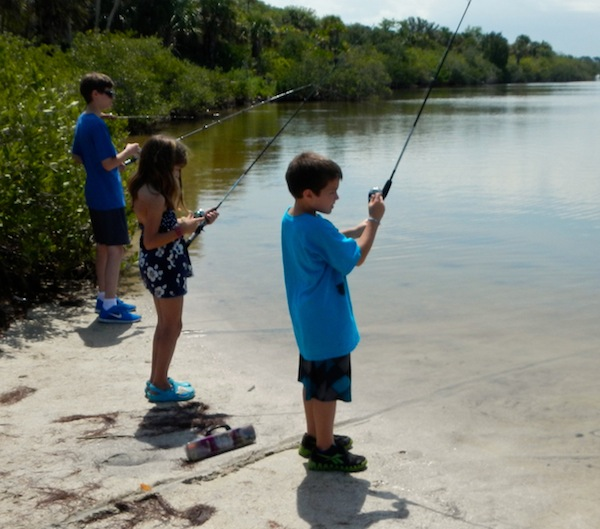 True anglers, the kids had a good time even though most did not catch a fish.