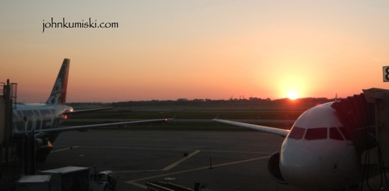 Sunrise, Kansas City airport.