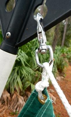 rigging a temporary sail