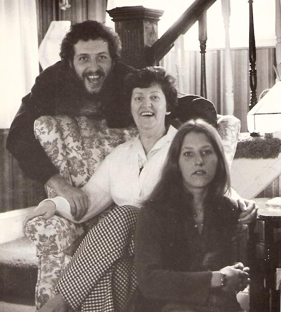 Me, Mom, and sister Cheryl, around 1976.