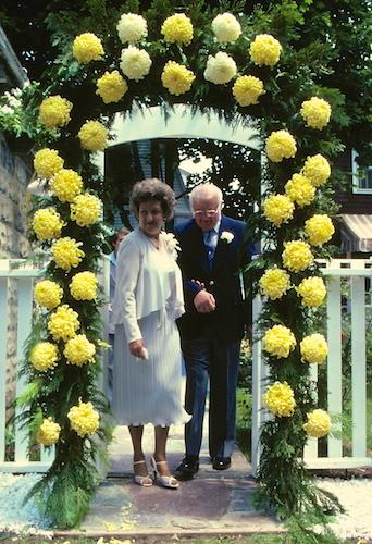 Pauline and Richard on my wedding day.