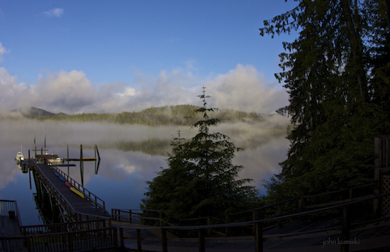 Morning view from the Lodge at Whale Pass.