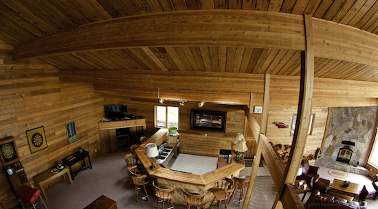 The recreation room at the Lodge.