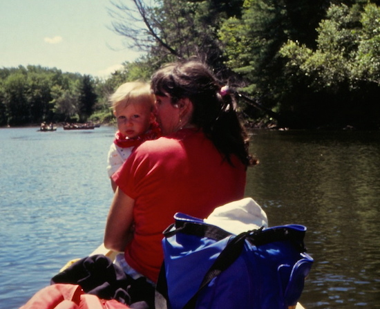 Alex and Susan, Saco River, Maine.