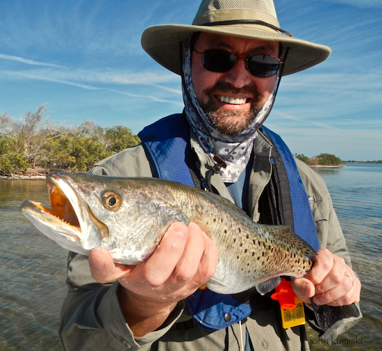 Dan trout the spotted tail for Mosquito lagoon fishing report