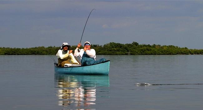 Canoe fishing orlando for Fly fishing canoe
